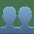 👥 Busts In Silhouette Emoji on Apple Platform