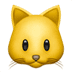 🐱 cat face Emoji on Apple Platform