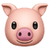 🐷 pig face Emoji on Apple Platform