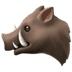 🐗 boar Emoji on Apple Platform