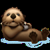 🦦 otter Emoji on Apple Platform