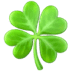 🍀 four leaf clover Emoji on Apple Platform