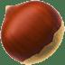 🌰 chestnut Emoji on Apple Platform