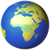 🌍 globe showing Europe-Africa Emoji on Apple Platform