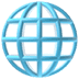 🌐 globe with meridians Emoji on Apple Platform