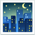 🌃 night with stars Emoji on Apple Platform