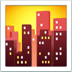 🌆 cityscape at dusk Emoji on Apple Platform