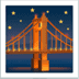 🌉 bridge at night Emoji on Apple Platform