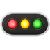 🚥 horizontal traffic light Emoji on Apple Platform