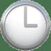 🕒 three o'clock Emoji on Apple Platform