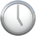 🕔 five o'clock Emoji on Apple Platform