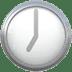 🕖 seven o'clock Emoji on Apple Platform