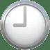 🕘 nine o'clock Emoji on Apple Platform