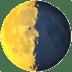 🌗 Last Quarter Moon Emoji on Apple Platform