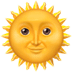 🌞 sun with face Emoji on Apple Platform