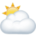 ⛅ sun behind cloud Emoji on Apple Platform