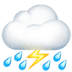 ⛈️ cloud with lightning and rain Emoji on Apple Platform