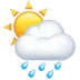 🌦️ Sun Behind Rain Cloud Emoji on Apple Platform