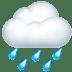 🌧️ cloud with rain Emoji on Apple Platform