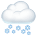 🌨️ cloud with snow Emoji on Apple Platform