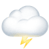 🌩️ Cloud With Lightning Emoji on Apple Platform
