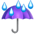 ☔ umbrella with rain drops Emoji on Apple Platform