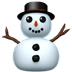 ⛄ snowman without snow Emoji on Apple Platform