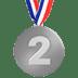 🥈 2nd place medal Emoji on Apple Platform