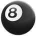 🎱 pool 8 ball Emoji on Apple Platform