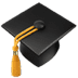 🎓 graduation cap Emoji on Apple Platform