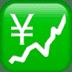 💹 chart increasing with yen Emoji on Apple Platform