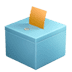 🗳️ ballot box with ballot Emoji on Apple Platform
