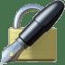 🔏 locked with pen Emoji on Apple Platform