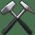 ⚒️ hammer and pick Emoji on Apple Platform