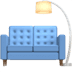 🛋️ couch and lamp Emoji on Apple Platform