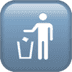 🚮 litter in bin sign Emoji on Apple Platform