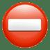 ⛔ no entry Emoji on Apple Platform