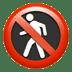 🚷 no pedestrians Emoji on Apple Platform