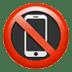 📵 no mobile phones Emoji on Apple Platform