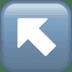 ↖️ up-left arrow Emoji on Apple Platform