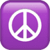 ☮️ peace symbol Emoji on Apple Platform