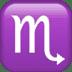 ♏ Scorpio Emoji on Apple Platform