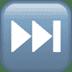 ⏭️ next track button Emoji on Apple Platform