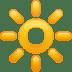 🔆 bright button Emoji on Apple Platform