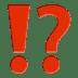 ⁉️ exclamation question mark Emoji on Apple Platform