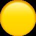 🟡 yellow circle Emoji on Apple Platform