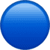 🔵 blue circle Emoji on Apple Platform