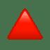🔺 red triangle pointed up Emoji on Apple Platform