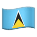 🇱🇨 St. Lucia Flag Emoji on Apple Platform