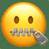 🤐 zipper-mouth face Emoji on Apple Platform